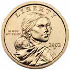 The Sacagawea dollar coin will still be made along side the four new President $1 coins.