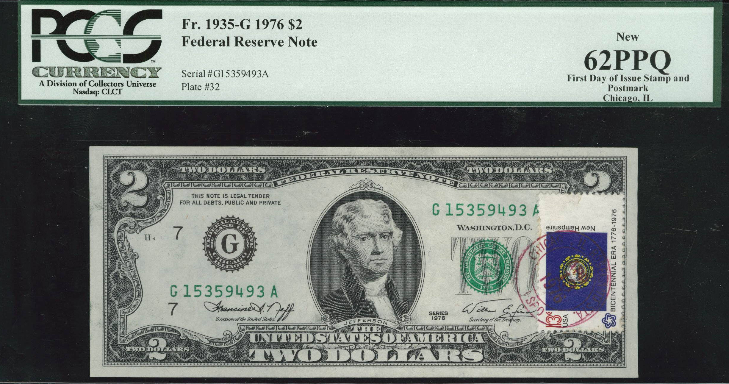 Acc certified currency notes 1976 new 62 200 bill fdi pcgs postmarked xflitez Choice Image