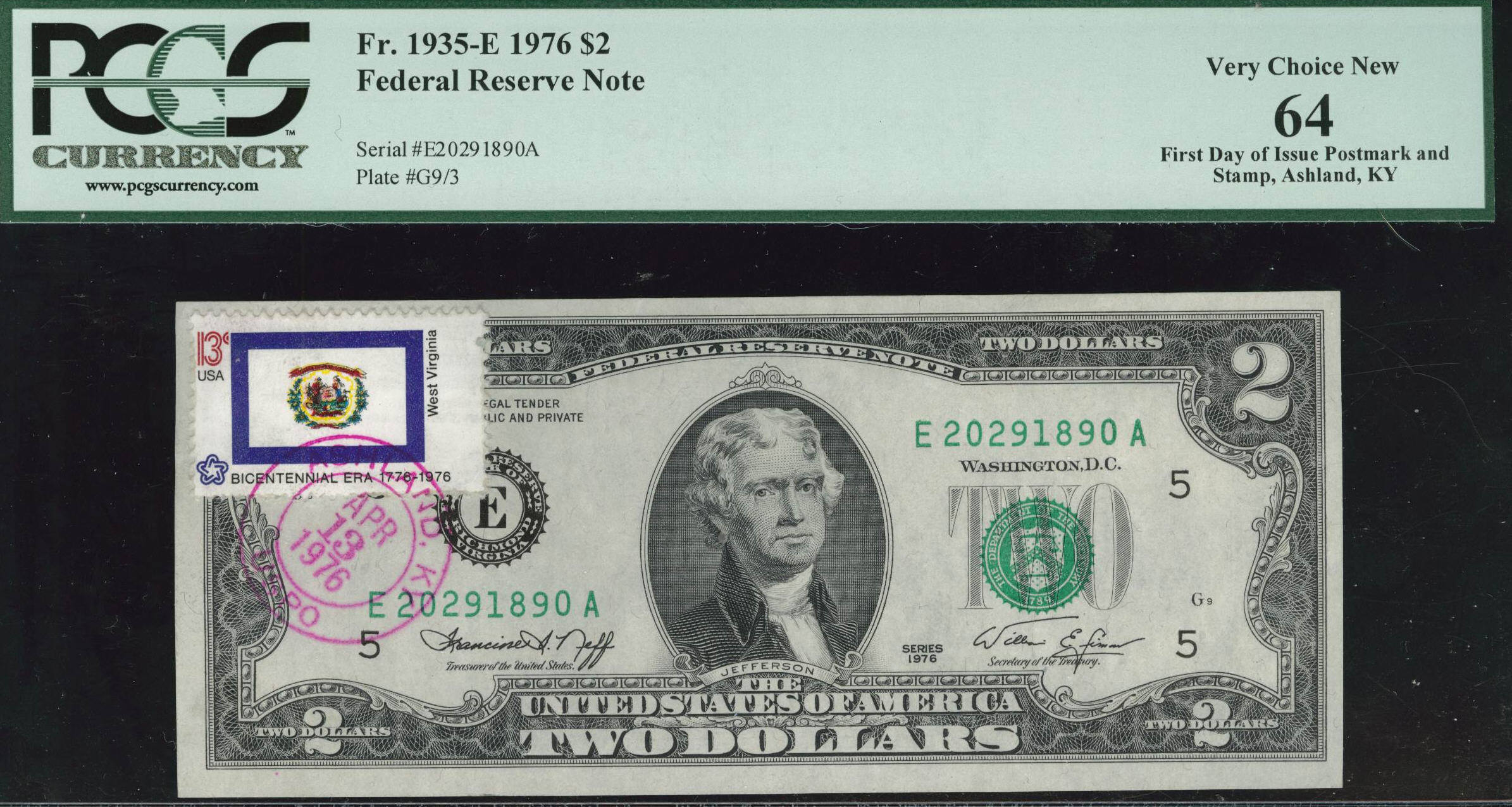 Acc certified currency notes 1976 choice new 64 200 bill fdi pcgs postmarked xflitez Images