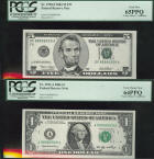 2003 Gem Uncirculated 64/65 Set $1.00 and $5.00 Bill (PCGS) Lucky Money