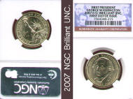 2007 P&D set First Day of Issue $1 (NGC)